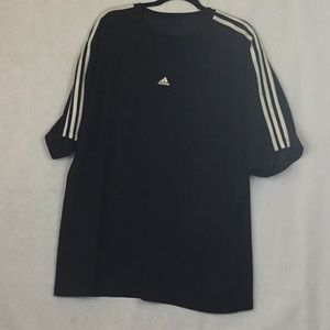 ADIDAS BLACK CLIMALITE SHIRT 54 chest 32 length